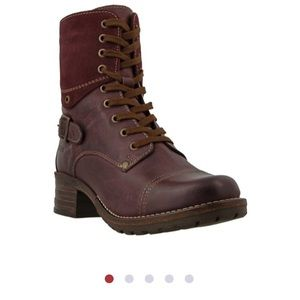 Taos Footwear Shoes - NEW Taos Crave Bordeaux Leather Boots 7/7.5 38